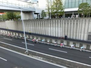 2014ツールドフランス メインレース クリテリウム 高架下