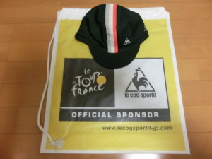 2014ツールドフランス サイクルフェスタ ルコック クリテリウム サイクリングキャップ