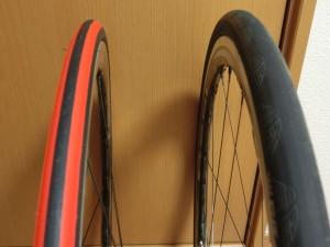 ロードバイク 23C 25C タイヤ 比較