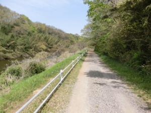 花見川サイクリングロード 未舗装路