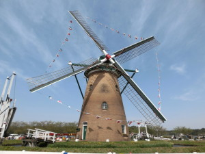印旛沼サイクリングロード 風車