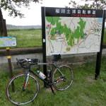 廃線跡を利用したサイクリングロードの「つくばりんりんロード」へ