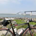 若洲海浜公園サイクリングロードへ ※ペダリングを意識してみる