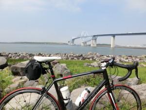 若洲公園サイクリングロード ロードバイク