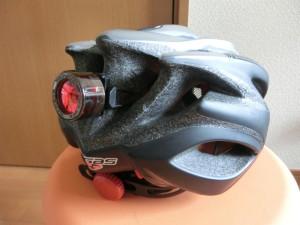 自転車 ヘルメット リアライト