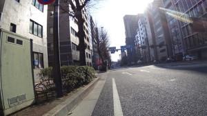 ロードバイク 都内 朝