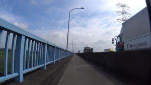 新国道4号 新利根川橋 自転車