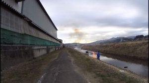 恋瀬川サイクリングロード 野焼き