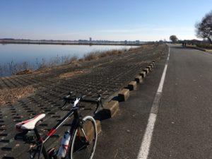 冬 渡良瀬遊水地 自転車
