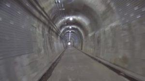 多摩湖自転車道 横田トンネル内