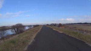 江戸川サイクリングロード 向かい風
