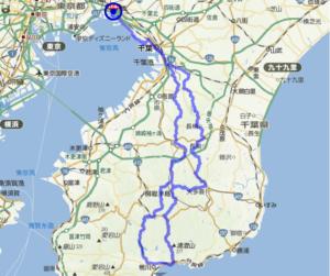 ブルべ コースマップ BRM217 鴨川200 (2018)