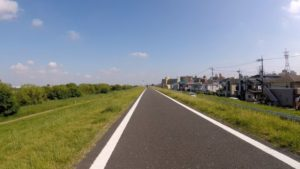 江戸川サイクリングロード ロードバイク 左岸