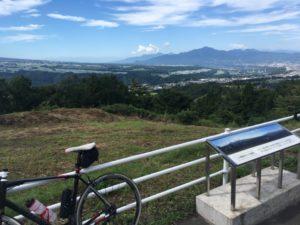 望郷ライン 自転車 展望台