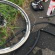 利根川サイクリングロード パンク 修理