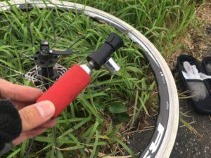 自転車 パンク Co2ボンベ