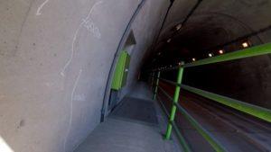 朝日トンネル 筑波 自転車