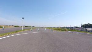 江戸川サイクリングロード 左岸 三郷 堤防上 自転車