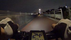 江戸川サイクリングロード 南下 右岸 クロスバイク