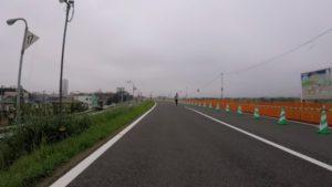 江戸川サイクリングロード 梅雨