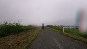 江戸川サイクリングロード 梅雨 雨 自転車
