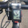 江戸川サイクリングロード 炎天下 気温