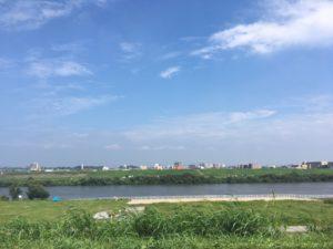 晴れ 江戸川サイクリングロード 自転車