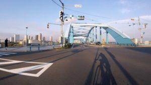 多摩川 中原街道 自転車