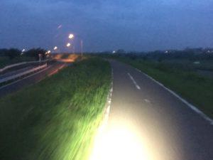 江戸川サイクリングロード 雨