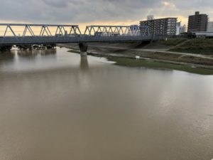 台風 江戸川サイクリングロード