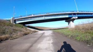 江戸川サイクリングロード アンダーパス 水たまり