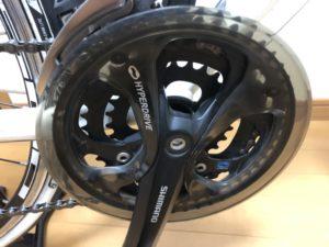 クロスバイク GIANT ESCAPE R3 カスタム クランク交換