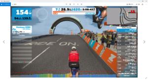 ZWIFT バーチャルツールドフランス stage5 頂上