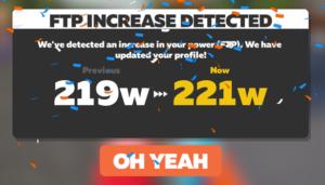ZWIFT FTP更新
