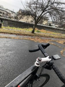 榛名山 雨 ロードバイク