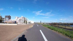 江戸川サイクリングロード 北風