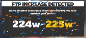 FTP更新 ZWIFT