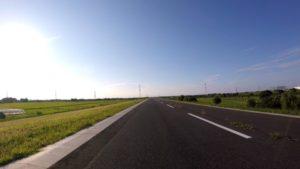 江戸川サイクリングロード 夕方 ロードバイク