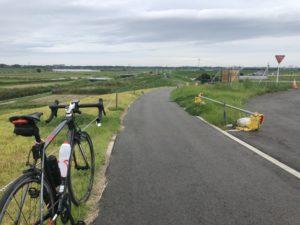 ロードバイク 利根川